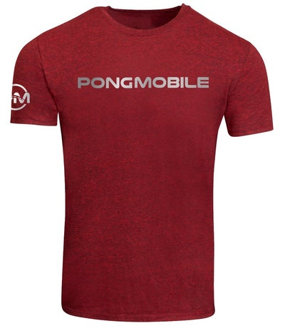 Image of PongMobile Essential Shirt Unisex Red/Silver