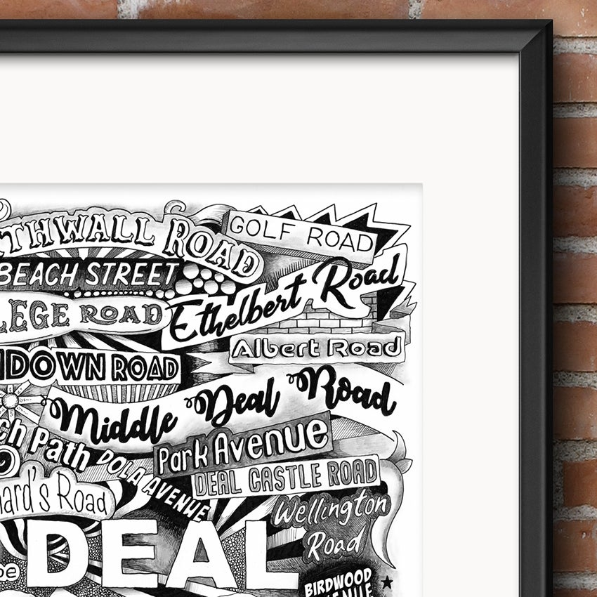 Image of Deal Street Names Typography Print