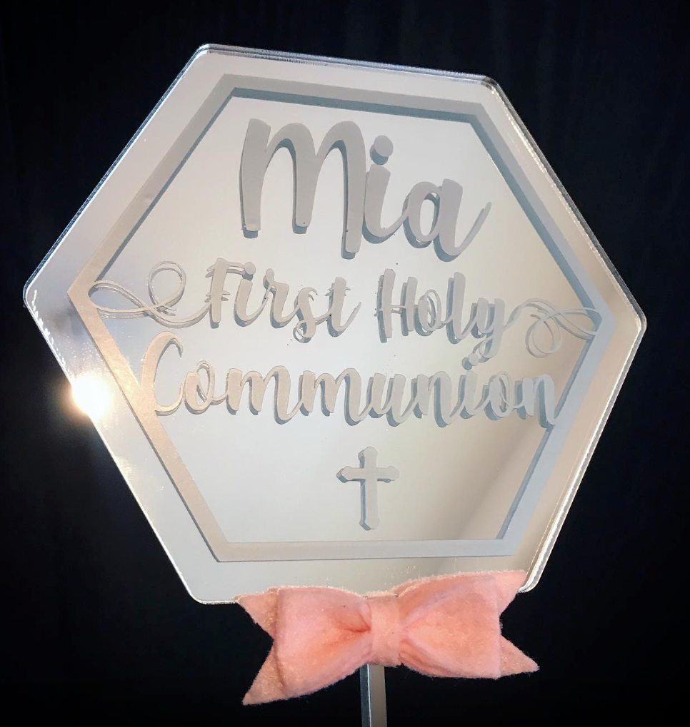 Image of Acrylic Shape cake topper