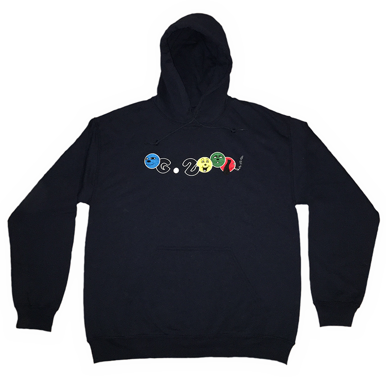 "Image of ""4 DUDES"" HOODIE LIMITED EDITION *** NAVY BLUE"