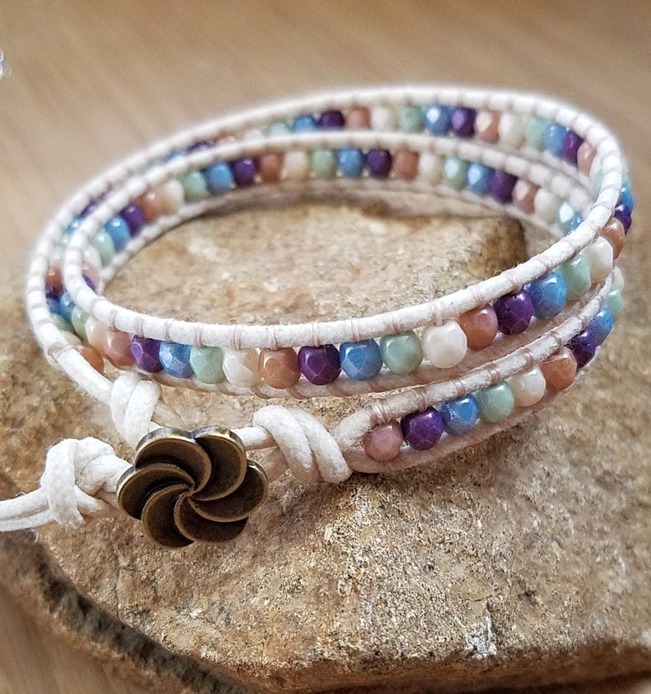 Image of Czech Beaded Wrap Bracelet