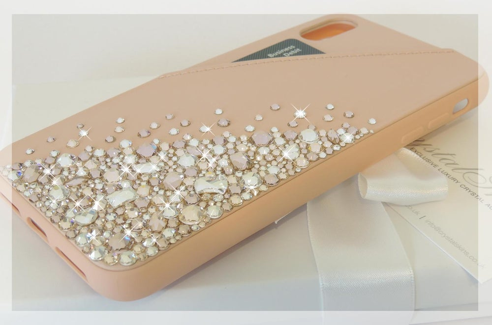 Image of Cascade Rose Gold Jewel Card Holder Case Reduced from £85 to £45