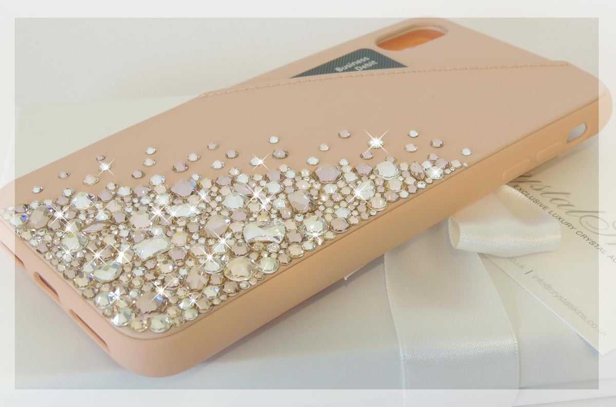 Image of Cascade Rose Gold Jewel Card Holder Case