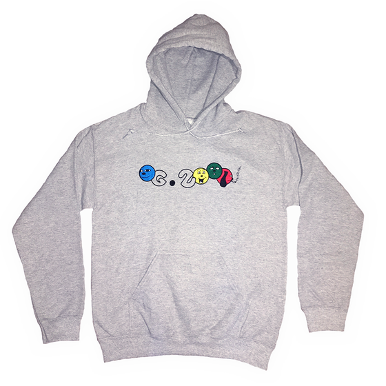 "Image of ""4 DUDES"" HOODIE *** HEATHER GREY"