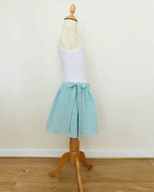 Image of Petite jupe à noeuds en double gaze