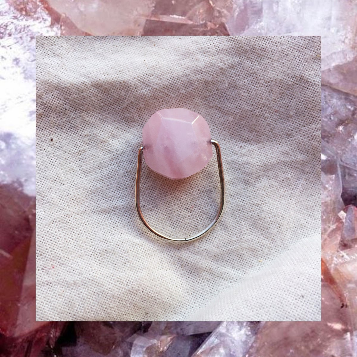 Image of BAGUE QUARTZ ROSE