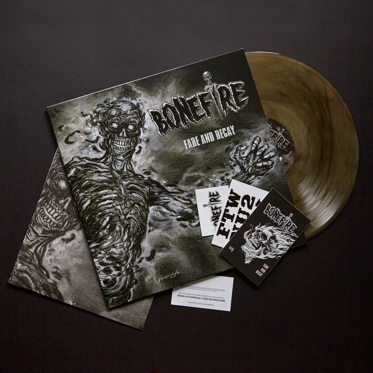 "Image of LIMITED 12"" VINYL LP COLORED - BONEFIRE ""FADE AND DECAY"""