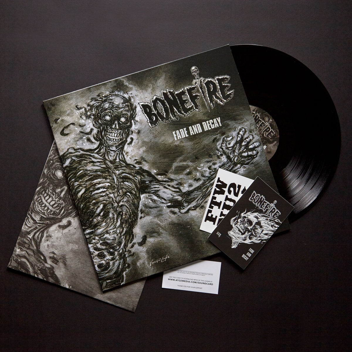 "Image of LP - BONEFIRE ""FADE AND DECAY"" 12"" BLACK VINYL"