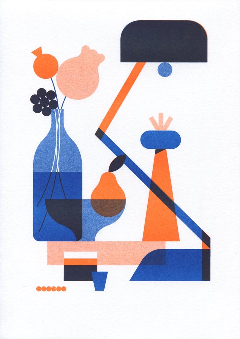 Image of Arrangement risograph print A4