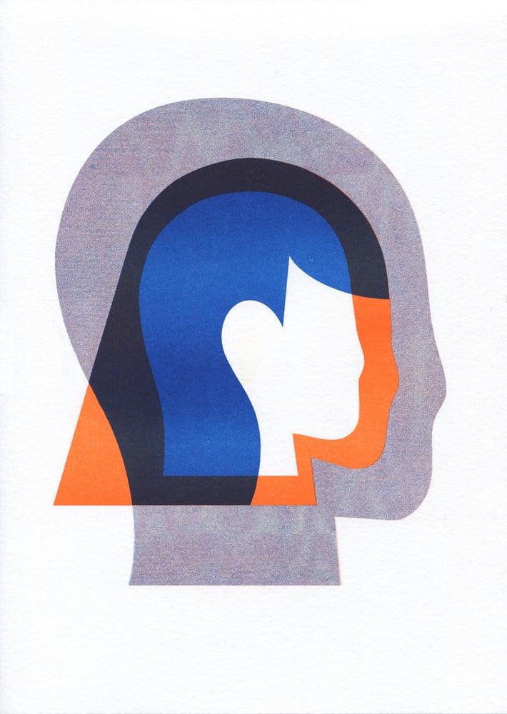 Image of Echo risograph print A4