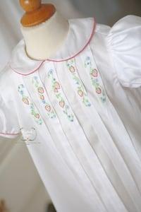 Image of Strawberry Vine Pleat Dress