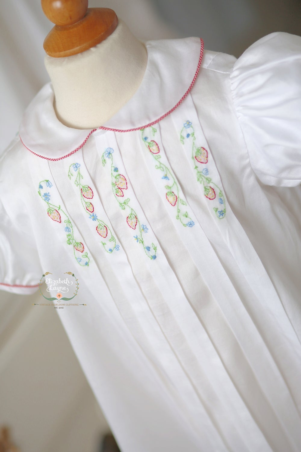 Image of Strawberry Vine Pleat Dress