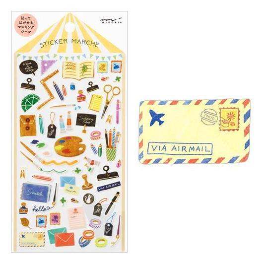 Image of MIDORI Sticker Marche Masking Seal Stickers - Stationery