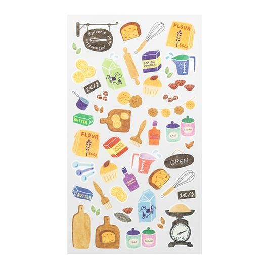 Image of MIDORI Sticker Marche Masking Seal Stickers - Baking
