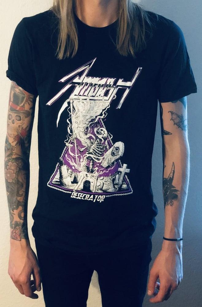 Image of Desecrator T-shirt, Black & Purple