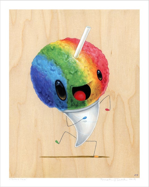 "Image of ""Disco Ice"" giclee"
