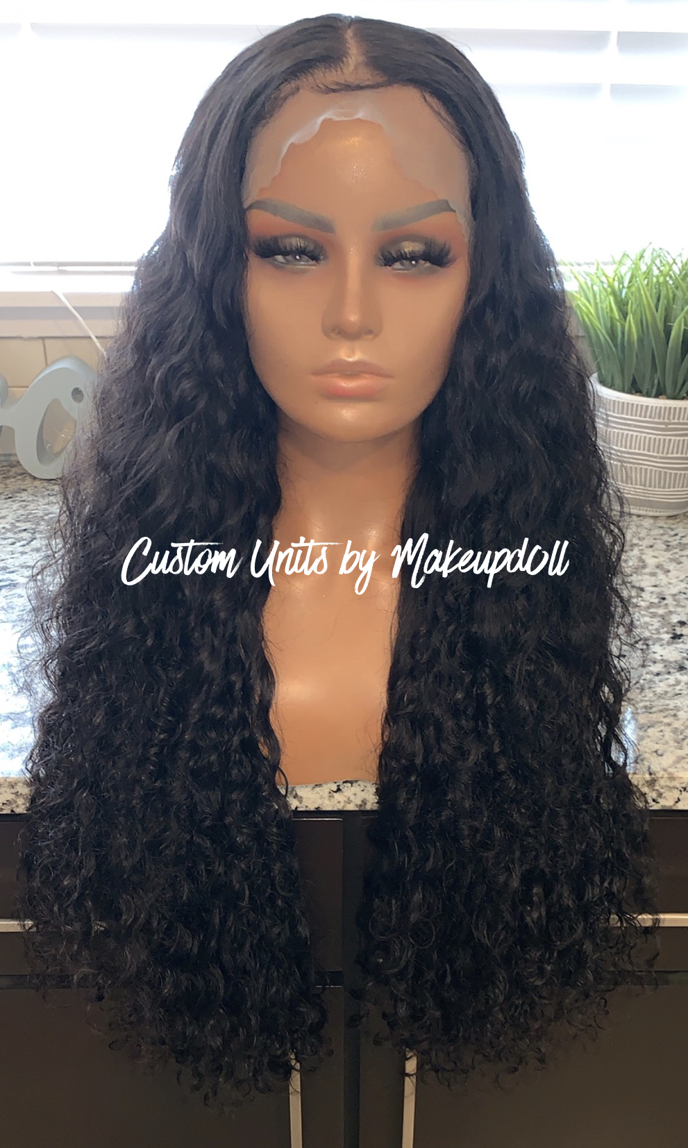 "Image of Indian Wavy/Curly 26"" Lace Frontal Wig!"