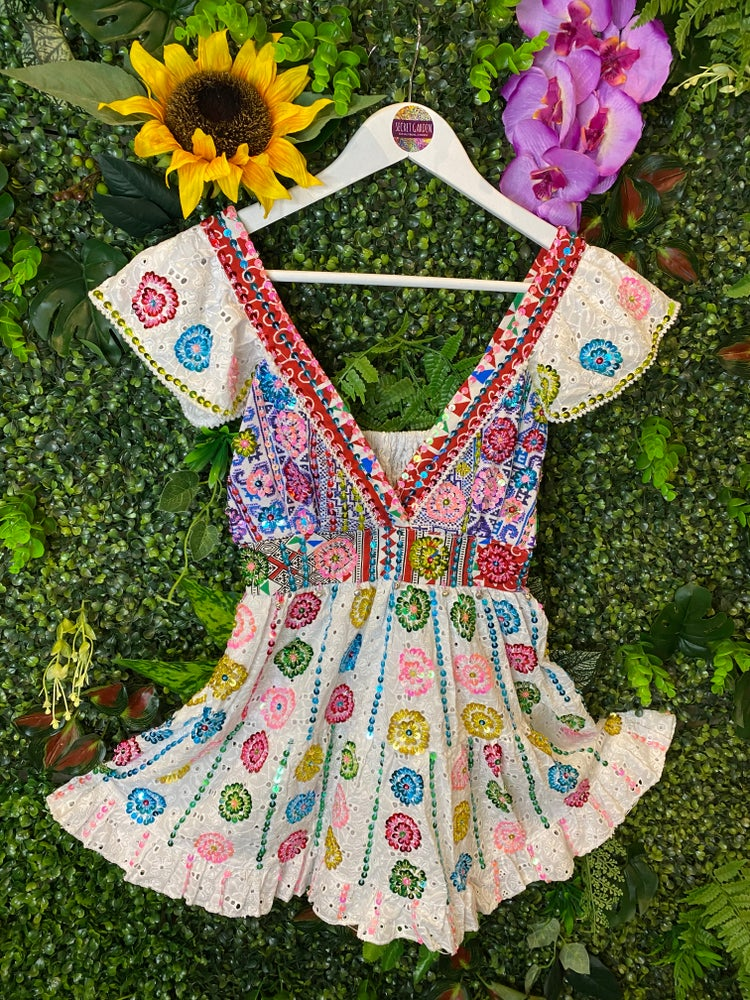 Image of Gypsy Soul Broderie Anglaise Top - Osaka