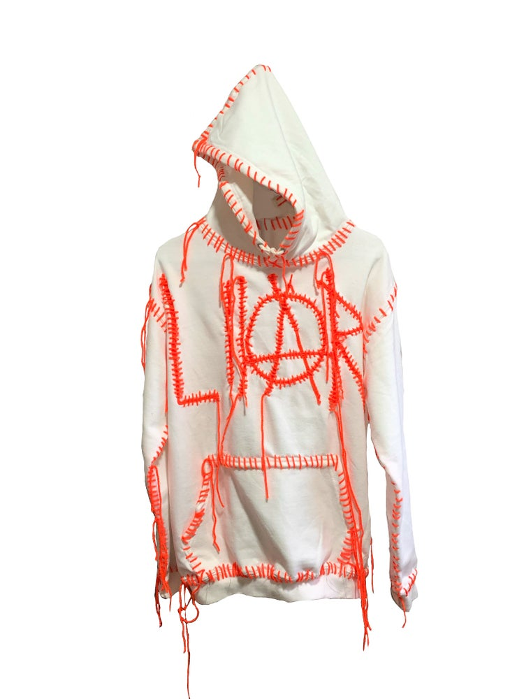 Image of WHITE LIAR HOODIE