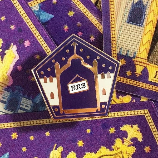 Image of Famous Witches and Wizards Card Pin