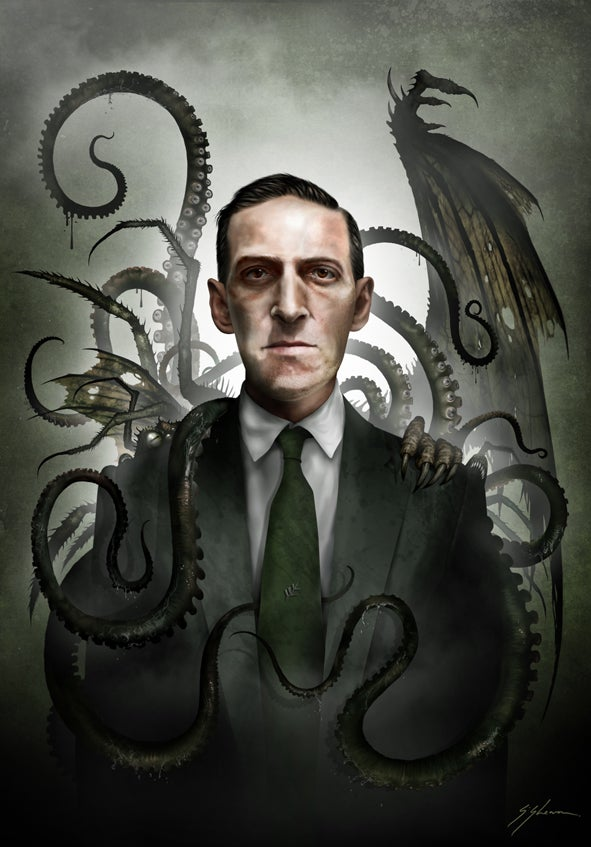 "Image of H.P. LOVECRAFT - 11"" X 16"""
