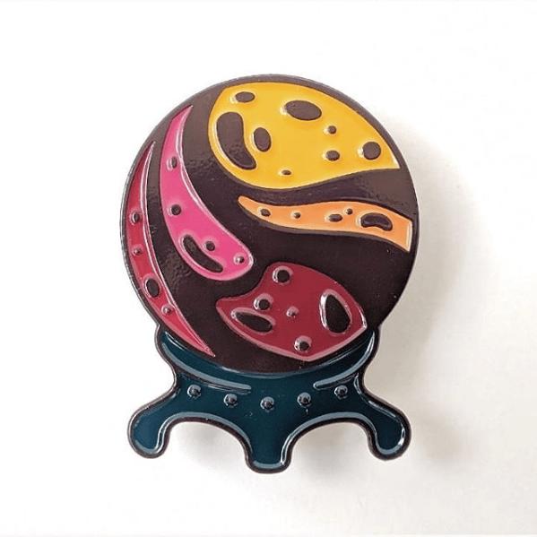 Image of Crystal Ball Enamel Pin