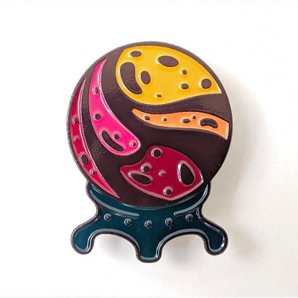 Image of Crystal Ball Enamel Pin