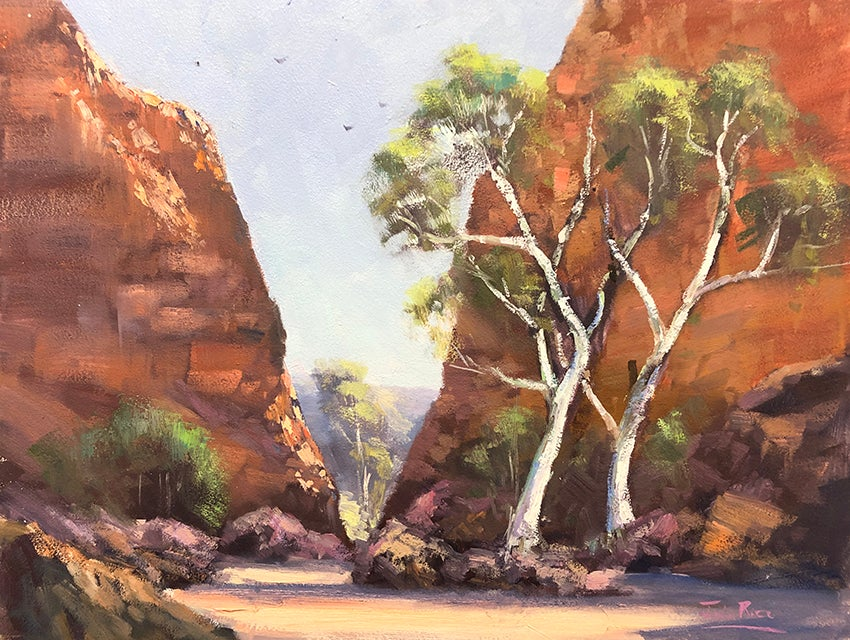 Image of Ghost Gums at Simpsons Gap