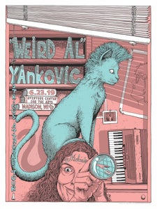 """Image of """"Weird Al"""" Yankovic STRINGS ATTACHED limited screen print"""