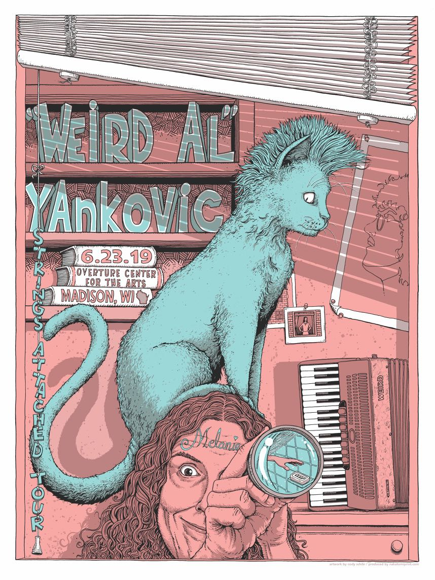 """Weird Al"" Yankovic STRINGS ATTACHED limited screen print"