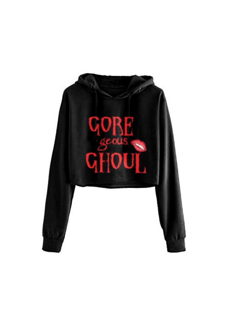 Image of Gore-geous Ghoul Cropped Hoodie