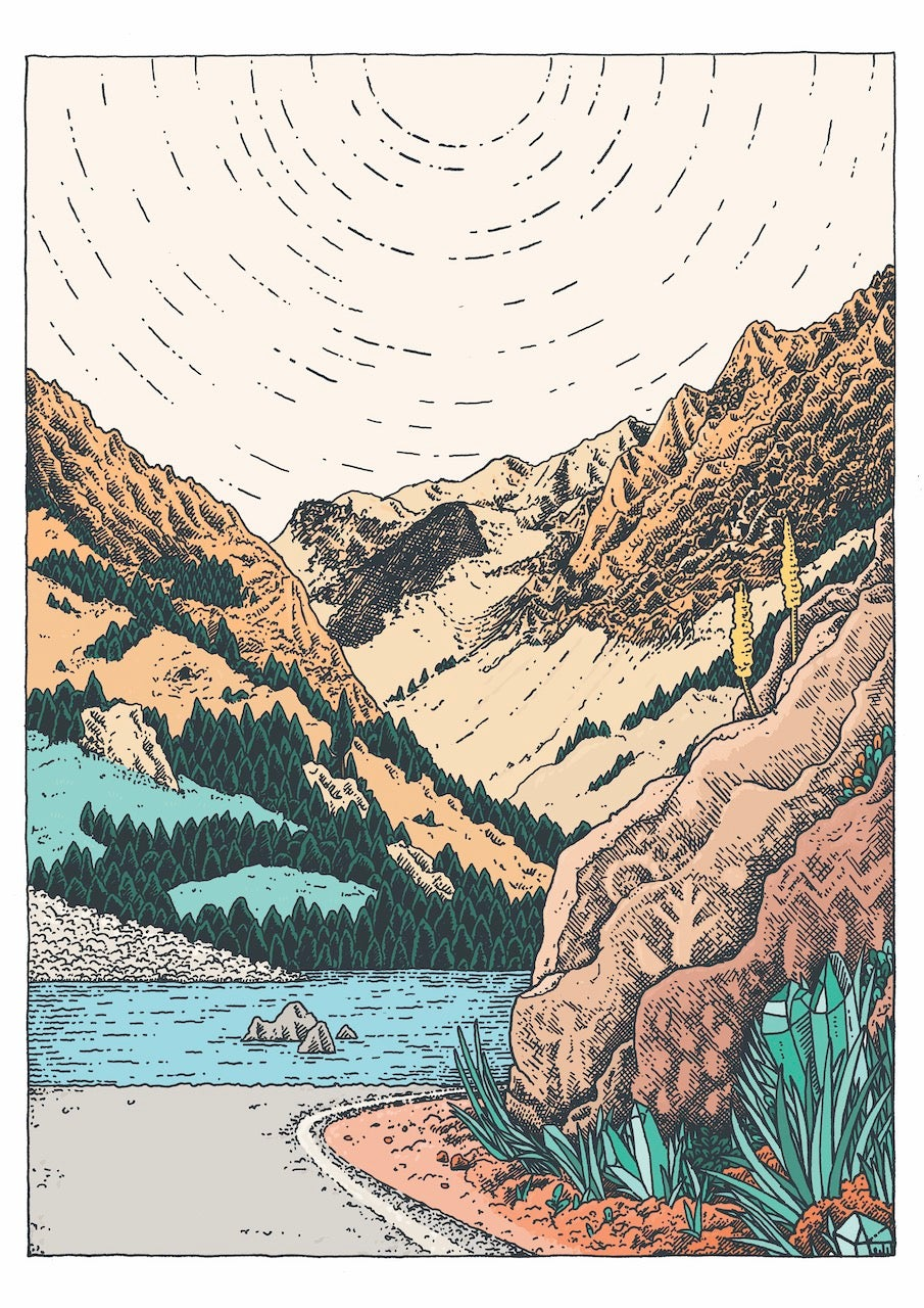 Desolation Wilderness Print by Claire Scully