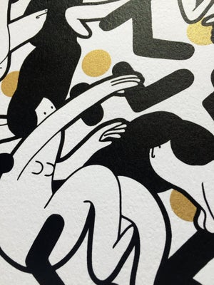 Image of Black and Gold Screenprint