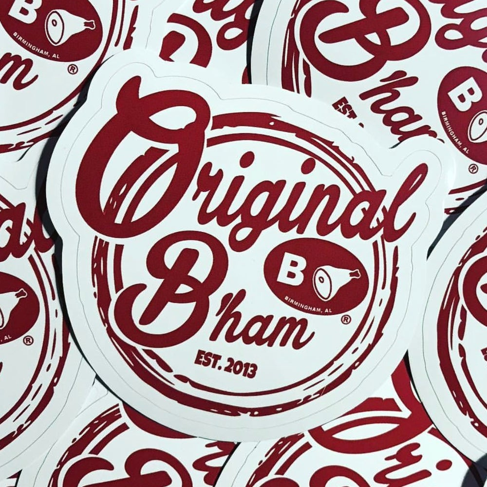 Image of Original B'ham Retro Diner Decal