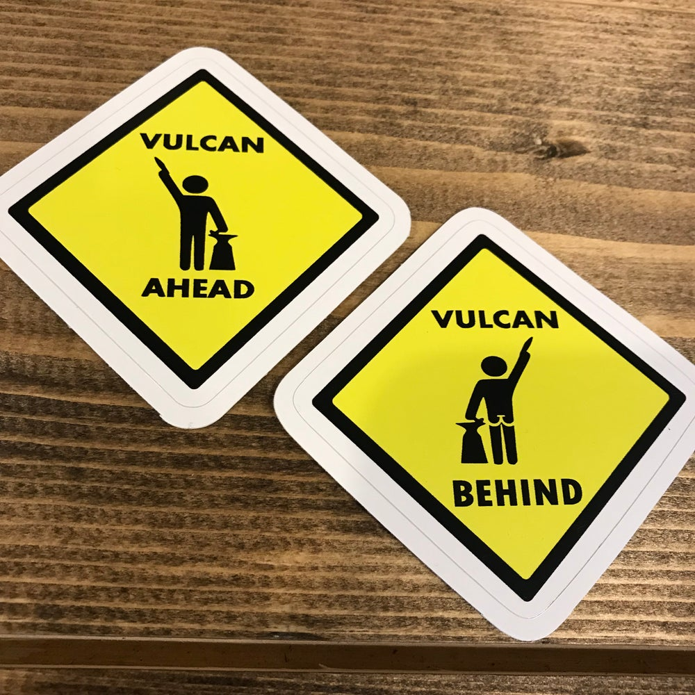 Image of Vulcan Ahead/Behind Decal Set
