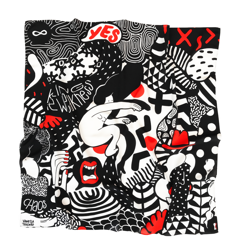 Image of Black and Red Scarf