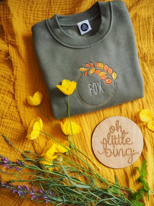 Image of Autumn Dew - Olive Sweater