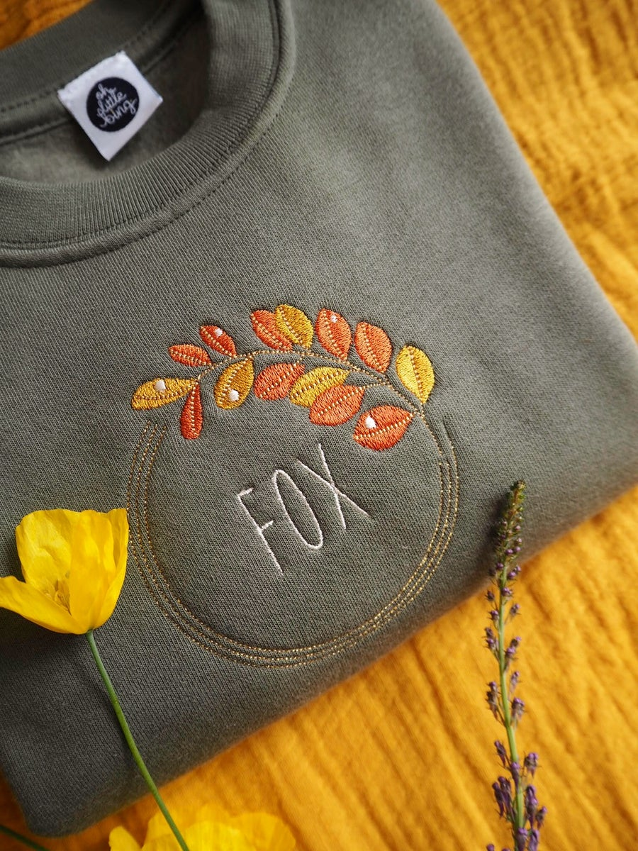 Image of Autumn Dew - Sweatshirt/olive or grey (kids)