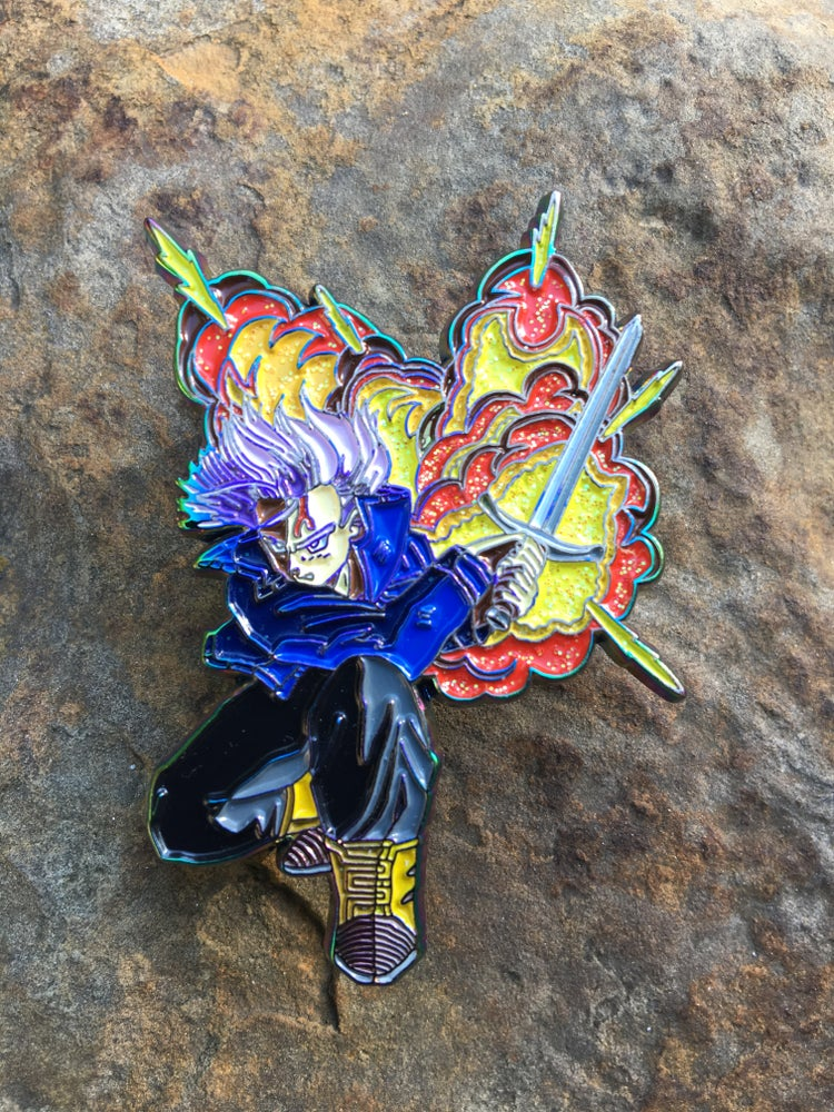Super Android 13 Trunks Soft Enamel Pin