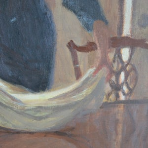 Image of Large 20thC Painting, 'The Housekeepers,' Mary Beresford Williams
