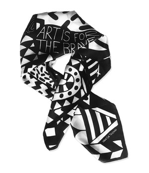 Image of Art is for the brave Silk Scarf
