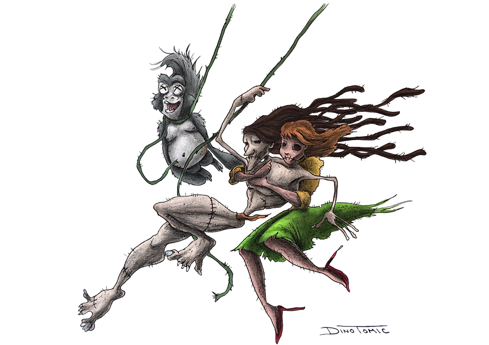 Image of #130 Tarzan Creepyfied
