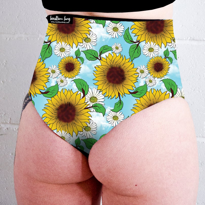 Image of Blue Skies High Waisted Twerk Thong Shorts