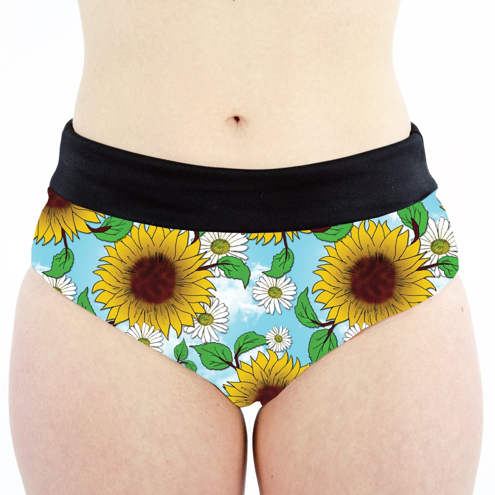 Image of Blue Skies High Waisted Cheeky Shorts
