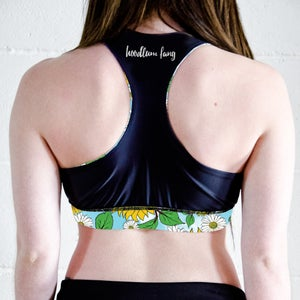 Image of Blue Skies Racer Back Sports Crop Top