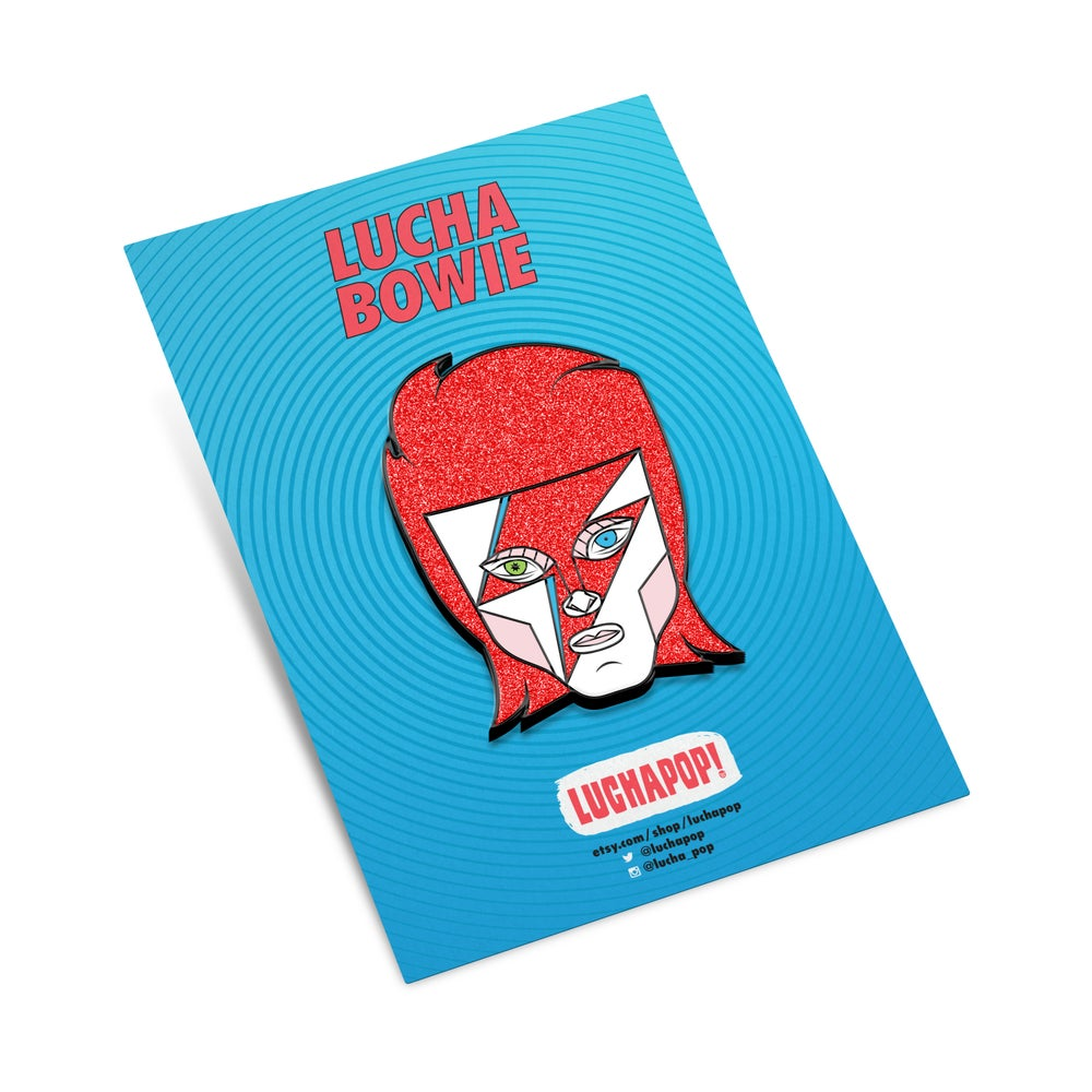 Image of Luchapop Bowie Pin