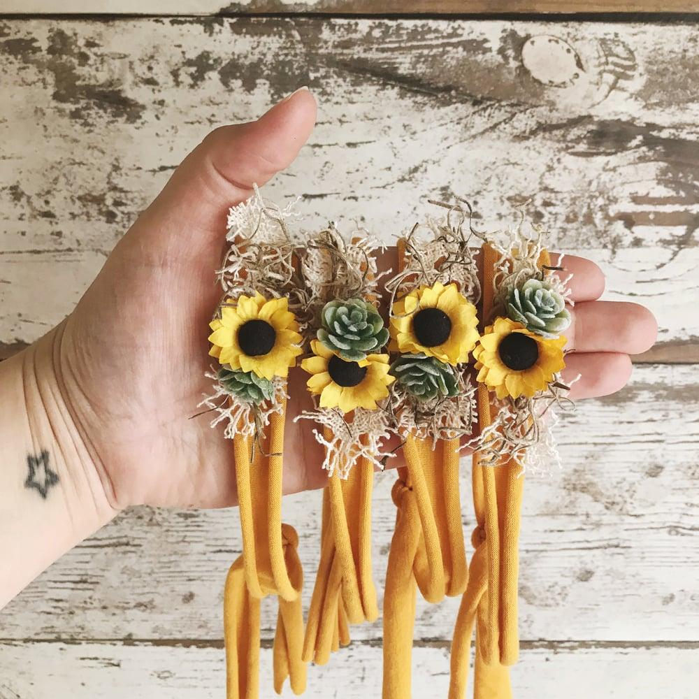 Image of Sunflower & Succulent Tieback