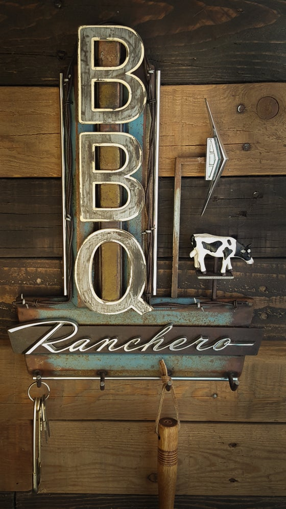 Image of BBQ Ranchero sign key rack
