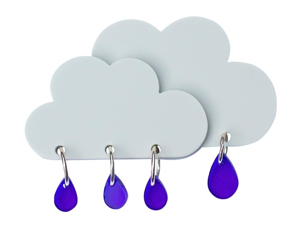 Image of Rain Cloud Brooch
