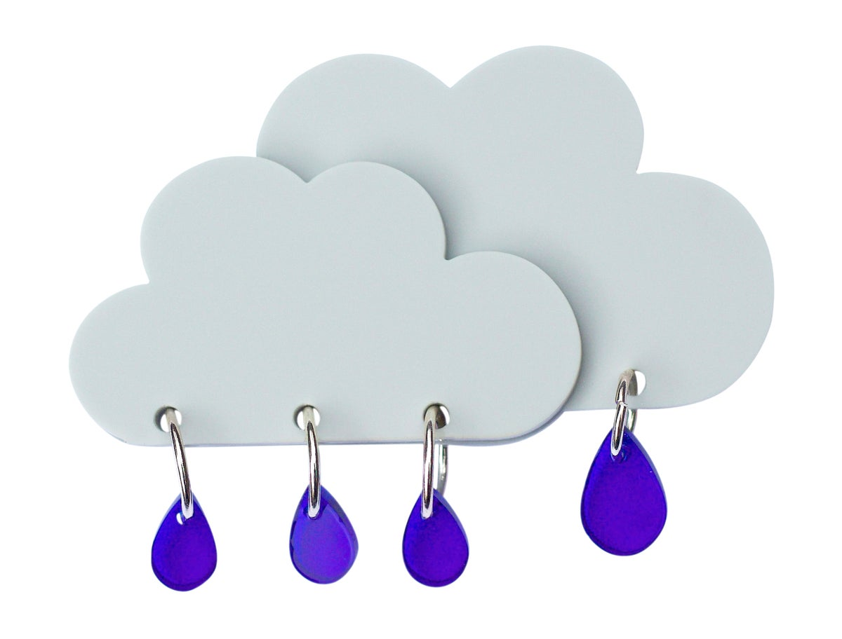 Image of Rain Cloud Brooch
